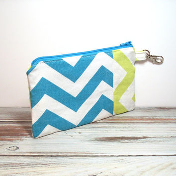 Clutch - Clutch Bag - Lime Green - Turquoise - Handbag Clutch - Chevron Clutch - Womens Clutch - Casual Clutch - Phone Clutch - Small Clutch