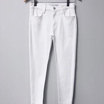 Frayed Babe Jeans, White