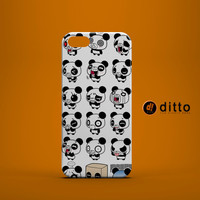 PANDA EMOJI Design Custom Case by ditto! for iPhone 6 6 Plus iPhone 5 5s 5c iPhone 4 4s Samsung Galaxy s3 s4 & s5 and Note 2 3 4
