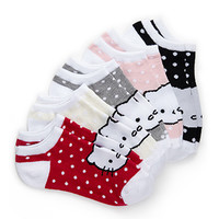 Dotted Hello Kitty Sock Set (Kids)