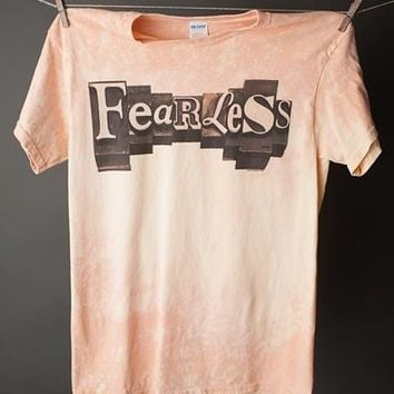 "Gina ""Fearless"" Bleached Gold Crew Tee"