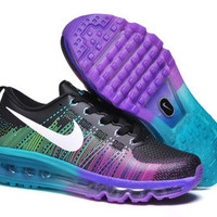 NFM002 - Nike Flyknit Max (Black/Purple/Blue)