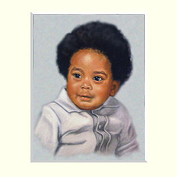 Custom Portrait from Photo. Pastel Painting Portrait of Child. Kids Portraits.