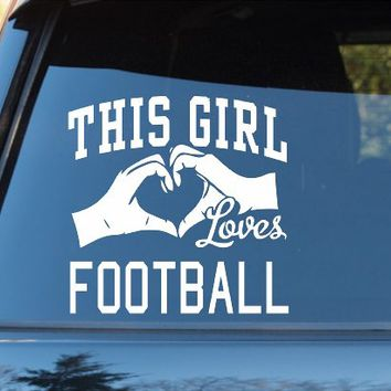 DABBLEDOWN DECALS This Girl Loves Football Decal Sticker Car Window Truck Laptop Tablet