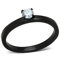 Dainty Diana Little Black Ring