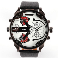 Mens Casual Leather Strap Wrist Watches Boys Outdoor Sports Mountaineering Watch Best Christmas Gift