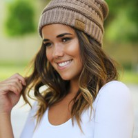 Knit Taupe Beanie