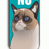 iPhone 5C Case - Hard (PC) Cover with Cactus the Cranky Cat Plastic Case Design