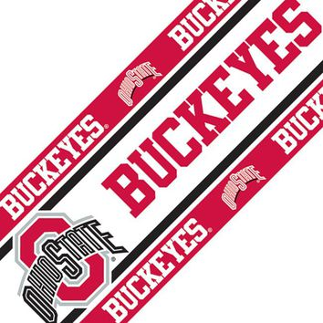 NCAA Ohio State Buckeyes Self Stick Accent Wall Border