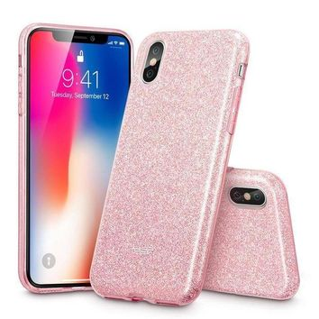 Iphone X Case Esr Iphone X Glitter Sparkle Bling Case [three Layer] [supports Wireless Charging] For The Apple 5.8' Iphone X /iphone 10 (2017 Release)(rose Gold)