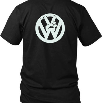 Vw Volkswagen 2 Sided Black Mens T Shirt