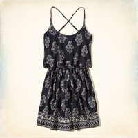 Patterned Tier Dress