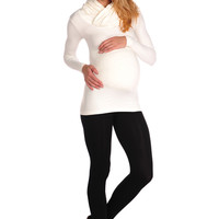 Tees By Tina Long Sleeve Cowl Neck Top
