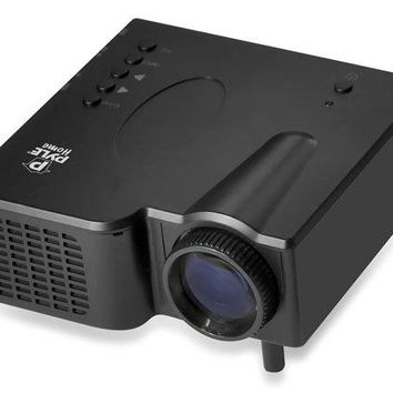 Pyle Portable Multimedia Gaming Mini Projector with HDMI, AV, VGA Inputs, SD Memory Card and USB Flash Readers, Works with Laptop, PC, DVD, Gaming Consoles, etc.