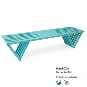 GloDea X70 Eco-friendly Wooden Bench | Overstock.com Shopping - The Best Deals on Outdoor Benches