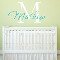 Boy's Name And Initial Wall Decal