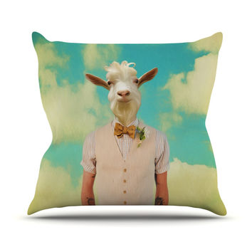 "Natt ""Passenger 6F"" Goat Throw Pillow"