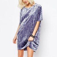 Cheap Monday Crushed Velvet T-Shirt Dress