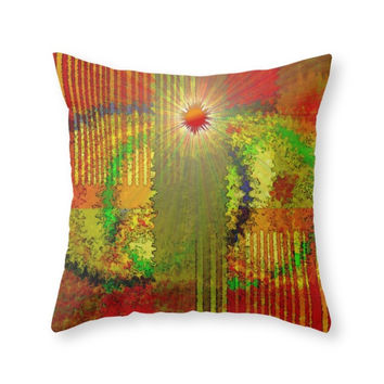 Society6 Energia Digital Throw Pillow