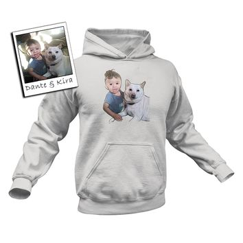Custom Illustrated Baby & Pet Hoodie by Tote Tails
