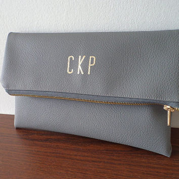 Personalized clutch bag / Monogrammed clutch purse