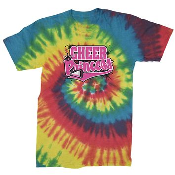 Cheer Princess Mens Tie-Dye T-shirt