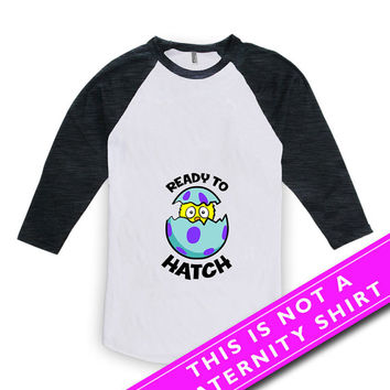 Easter Pregnancy Announcement Shirt Baby Announcement Ready To Hate Pregnancy Tops Maternity Clothes American Apparel Unisex Raglan MAT-488