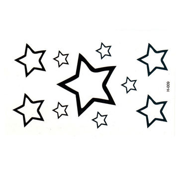 Women Sexy Finger Wrist Flash Fake Tattoo Stickers Liberty star Design Waterproof Temporary Tattoos Sticker