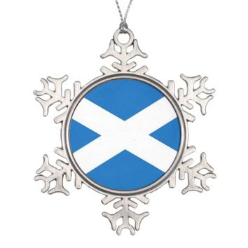 Snowflake Ornament with Scotland Flag