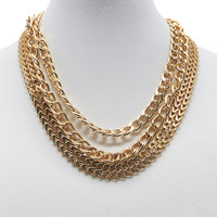 Chain-Link Necklace Set | Wet Seal