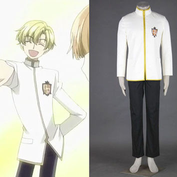 White School Uniform Cosplay Costume, Ouran High School Host Club Costume