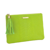 Lime All in One Bag | Embossed Python Leather | GiGi New York