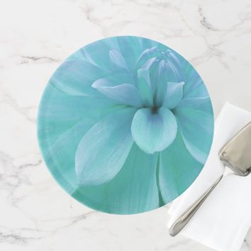 Beautiful blue and aqua flower cake stand