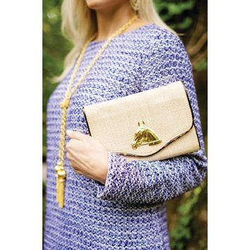 Sadie Equestrian Clutch Hand Crafted