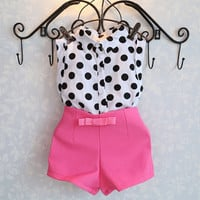 Girls 2 Piece No Sleeve Top and Shorts