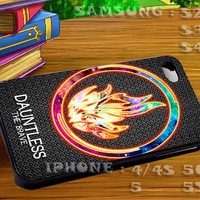 Divergent Dauntless The Brave Nebula - For iphone 4 iphone 5 samsung galaxy s4 / s3 / s2 Case Or Cover Phone.
