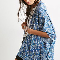 Abstract Diamond Print Kimono