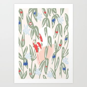 Planting The Social Life Art Print by chotnelle