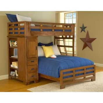 American Woodcrafters Heartland Twin Over Full Student Loft Bed