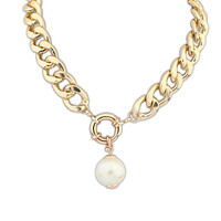 Jewelry New Arrival Stylish Shiny Gift Palace Pearls Chain Necklace [4918878788]