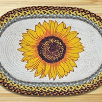 Sunflower Oval Patch Rug