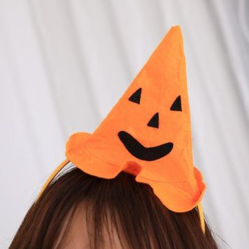 1PC Halloween Pumpkin Headwear Fantastic DIY Halloween Party Festival Props For Children Adults Hat Hairband For Halloween