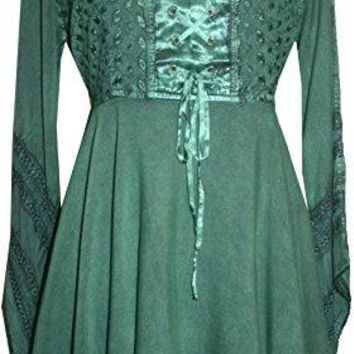 Gypsy Medieval Stylish Bohemian Sexy Flare Corset Tunic
