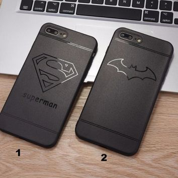 Fashion Superman Batman mobile phone case for iPhone X 7 7plus 8 8plus iPhone6 6s plus -171211