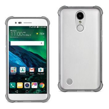 LG Fortune/ Phoenix 3/ Aristo Clear Bumper Case With Air Cushion Protection (Clear Black)