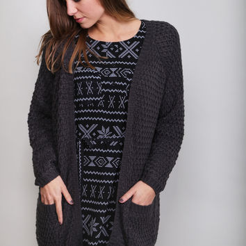 Winter Nights Cardigan {Charcoal}
