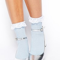ASOS Lace Trim Ankle Socks