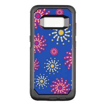 cute floral pattern OtterBox commuter samsung galaxy s8 case
