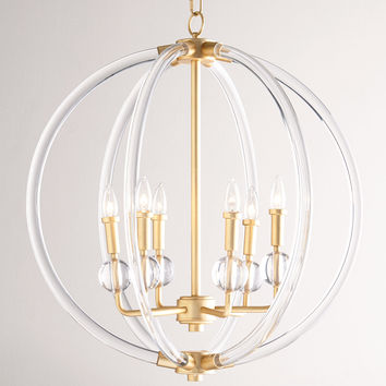 Lucite Six-Light Pendant - Neiman Marcus