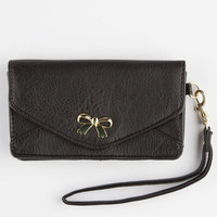Bow Front Wallet Black One Size For Women 25596910001